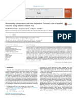 Determining temperature and time dependent Poisson's ratio of asphaltconcrete using indirect tension test