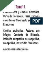 Tema 11 Cinética Microbiana