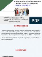 Análisis de La Población Económicamente Activa en Lima