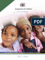 Ombudsperson for Children Annual Report 2017-2018
