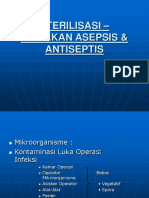 Sterilisasi - Tindakan Asepsis Dan Antisepsis