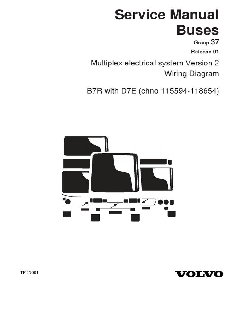 17001-03 B7R D7E chn 115594-118654 | Land Vehicles | Technology &  Engineering | Volvo B7r Wiring Diagram |  | Scribd