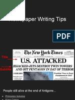 newspaper writing tips