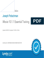 J. Potischman iMovie1011 EssentialTraining Certificate of Completion
