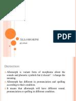 Allomorph PPT