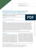 Dense Phase Pneumatic Conveying