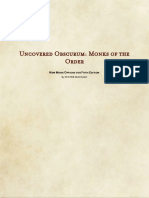 Uncovered Obscurum Monks of the Order