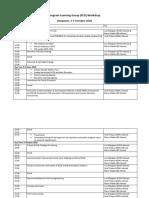 Program Learning Group Agenda Update
