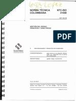 NTC ISO 31000 Gestion Del Riesgo. Principios y Directrices