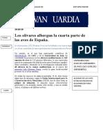 Noticia Sobre Biodiversidad Del Olivar