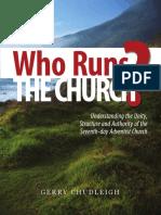 Who Runs the Church by Gerry Chudleigh
