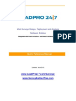 Online Surveys Quick Reference Manual for Survey Builder Software from LeadPro247