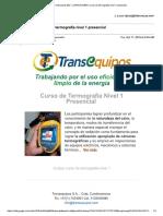 Invitacion Transequipos Termografia Nivel 1