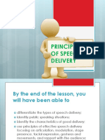 Principles of Speech Delivery