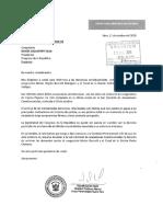 Carta de bancada Nuevo Perú a Daniel Salaverry