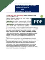 LOS DERECHOS DE INFORMACIÓN SANITARIA ,AUTONOMÍA DEL PACIENTE
