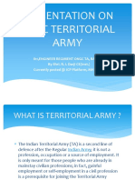Presentation on Ongc Territorial Army - Shri r.i.darji