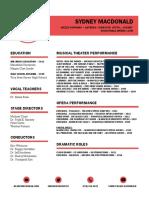 macdonald - performance resume