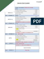 Study Planner September Sat e i II III IV