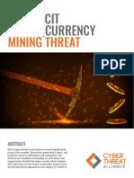 CTA Illicit CryptoMining Whitepaper