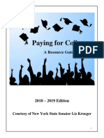 Senator Krueger's Guide to Paying for College 2018 - 2019