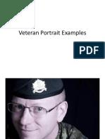 Veteran Portrait Examples