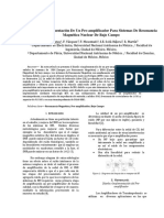 Diseño e Implementación De Un Preamplificador Para Sistemas de Resonancia Magnética Nuclear De Bajo Campo Ver. Rev.