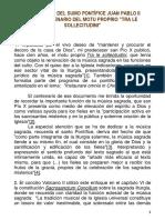 Quirógrafo Del Sumo Pontífice Juan Pablo II 2