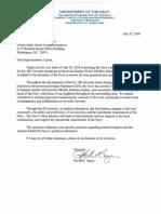 2018-07-27 Assistant SECNAV Phyllis L. Bayer Letter to Congressman Larsen