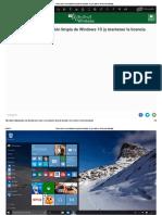 Cómo Hacer Una Instalación Limpia de Windows 10 (y Mantener La Licencia Activada)
