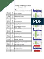 Cronograma de MateIIgeo 2018