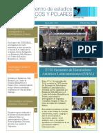 Newsletter 9 del el Centro de Estudios Hemisféricos y Polares. Setiembre 2018