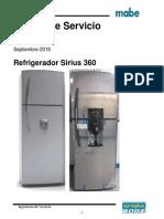 Mabe refrigerador Manual de Servicio SIRIUS 360