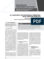 El Contrato de Suplencia Temporal en El Sector Público - Autor José María Pacori Cari