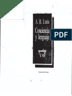 Alexander Luria - Conciencia y Lenguaje