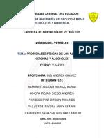 Informe de Petroquimica Aldehidos