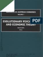Vol. 7 - Evolutionary Psycology and Economic Theory - Koppl, r.