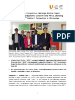 Singapore's vCargo Cloud Inks Single Window Project in Gabon Special Economic Zone in Central Africa, Extending CamelONE™ Platform's Connectivity to 15 Countries