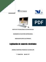 Legislacion de Comercio Electronico