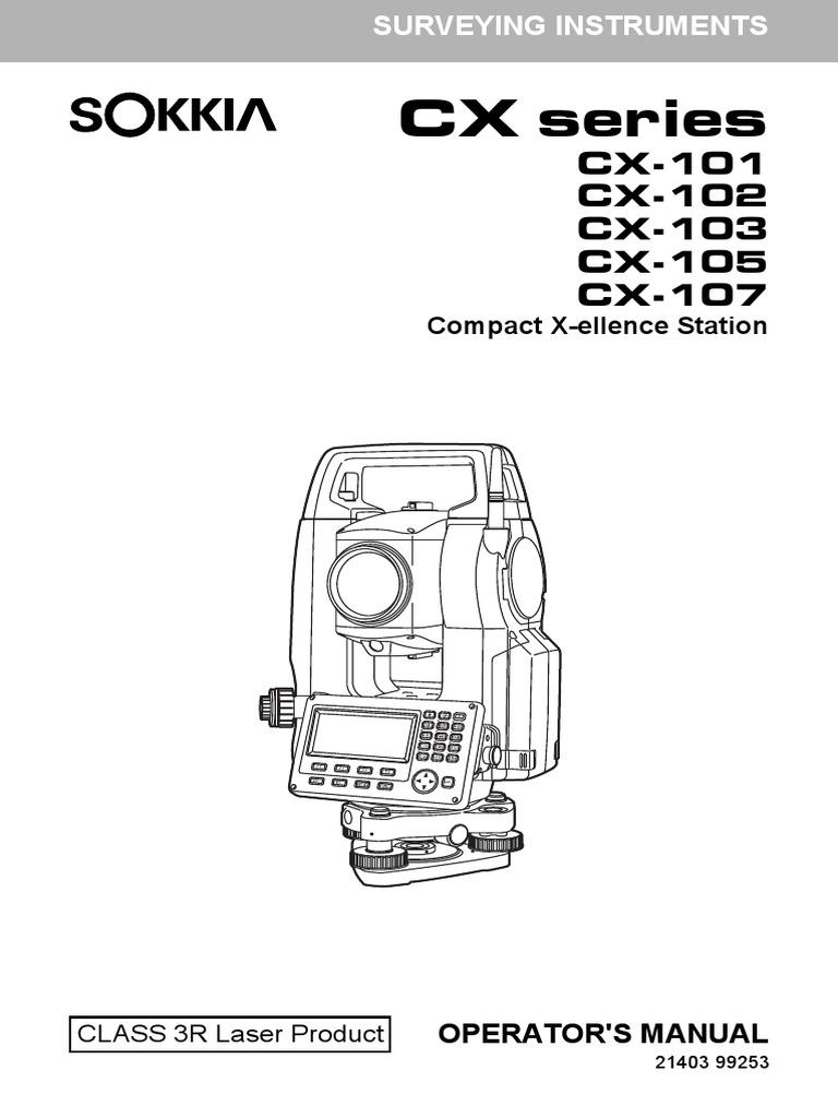 Manual De Estacion Total Sokkia CX Pdf