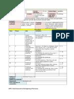 10 Focus 4 Lesson Plan Unit 1