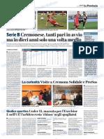 La Provincia Di Cremona 12-10-2018 - Serie B
