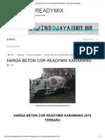 Harga Beton Cor Readymix Karawang _ Indojaya Readymix