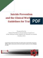 Guidelines suicidio prevencion Australia