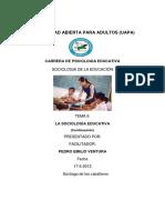 TEMA II Sociología Educativa