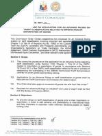 Commission Order 2017-01
