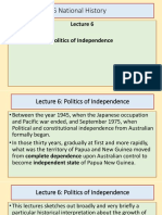 Lecture 6 - Politic and Independence BY YAMSOB MOSES