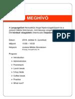 MEGHÍVÓ LanguageCert Interlocutor Training