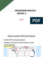Teknik Menjawab Biologi Kertas 3 2018