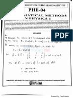 PHE-4 Mathematical methods in physics 1 EM